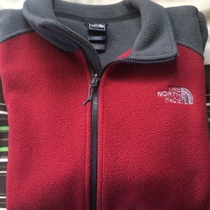 North face fleece zip